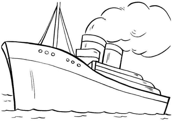 Mẫu tranh tô màu hình chiếc tàu đang chạy dành cho bé