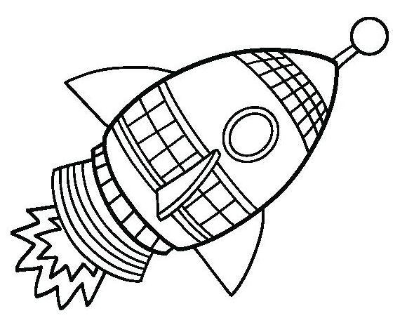 Mẫu tranh tô màu hình tên lửa dành cho bé