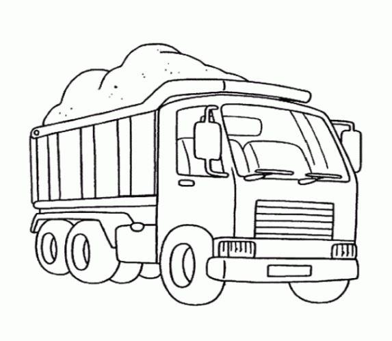 Mẫu tranh tô màu cho bé hình xe công trình