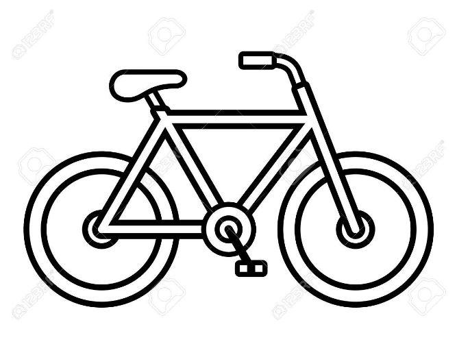 Mẫu tranh tô màu cho bé hình chiếc xe đạp đơn giản
