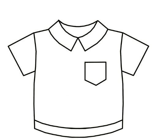 Mẫu tranh tô màu chi bé hình cái áo đơn giản nhất