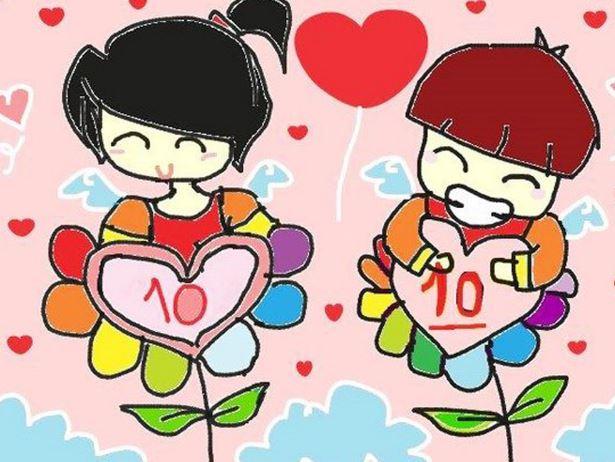 Tranh vẽ bông hoa điểm 10 của các con dành tặng cho cô giáo nhân ngày 8-3