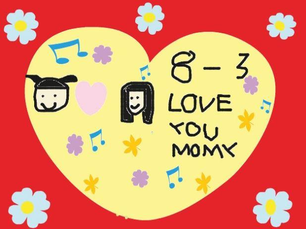 Tranh vẽ tặng mẹ nhân ngày quốc tế phụ nữ 8-3