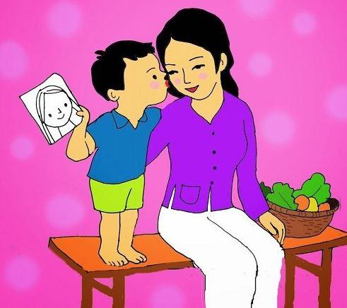 Bức tranh đầy ý nghĩa của đứa con dành tặng cho mẹ nhân ngày quốc tế phụ nữ