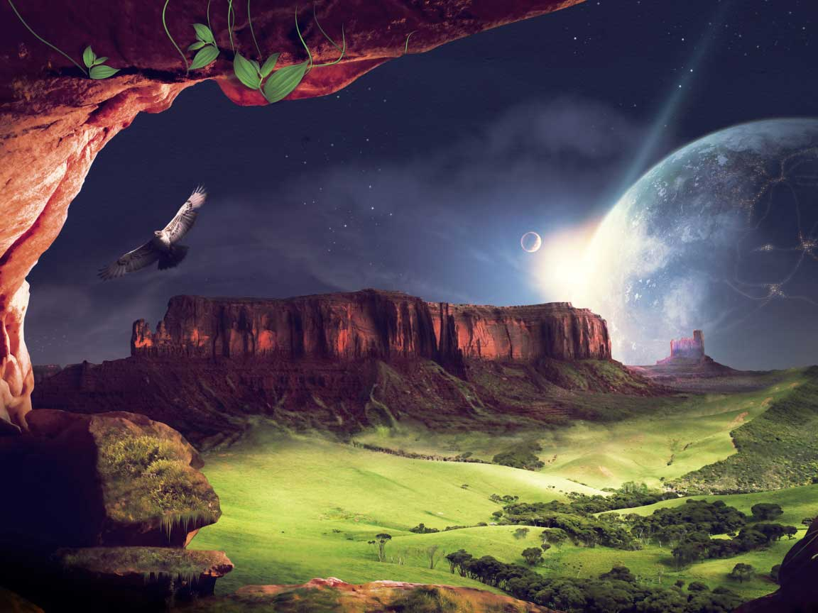 Bức tranh phong cảnh thiên nhiên 3D tuyệt đẹp