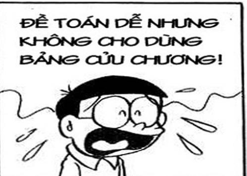 Ảnh chế hài hước của Nobita trong bộ truyện tranh Doreamon