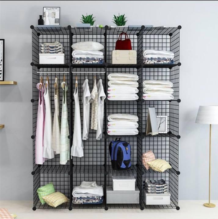 Tổng hợp mẫu kệ tủ lưới sắt thép đa năng tủ quần áo