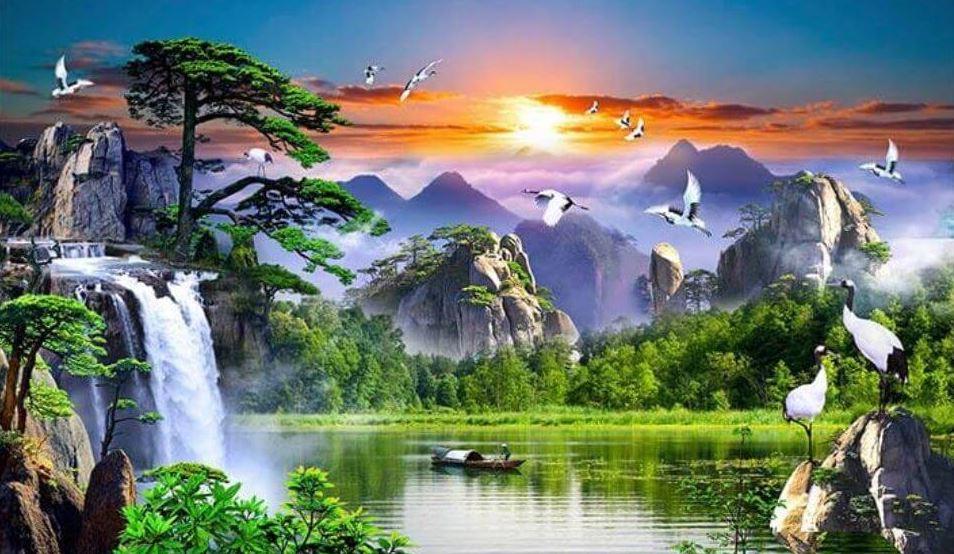 Tranh phong cảnh 3D - Tranh 3D thiên nhiên treo tường đẹp nhất