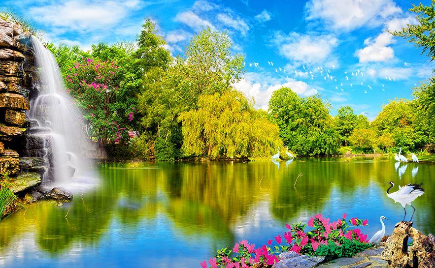 Tranh phong cảnh 3D - Tranh 3D thiên nhiên đẹp