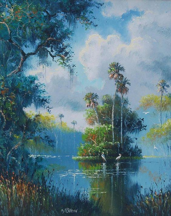 Tranh sơn dầu phong cảnh treo tường thiên nhiên đẹp nhất