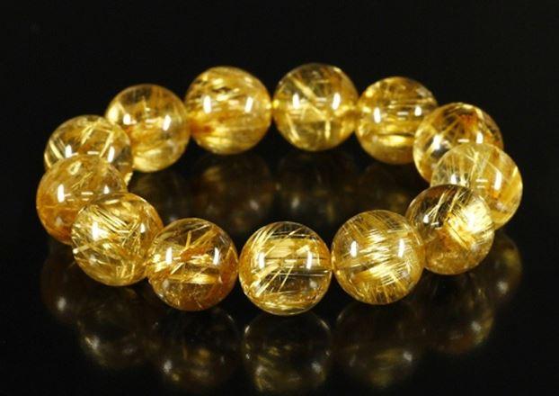 Vòng tay Đá Thạch Anh Tóc Vàng