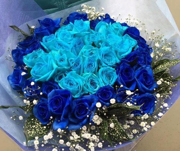Ảnh bó hoa hồng xanh đẹp nhất