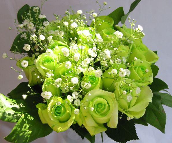 Bó hoa hồng xanh đẹp lạ