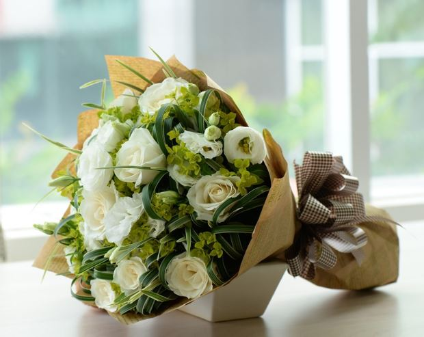 Ảnh bó hoa hồng xanh lá cây đẹp nhất