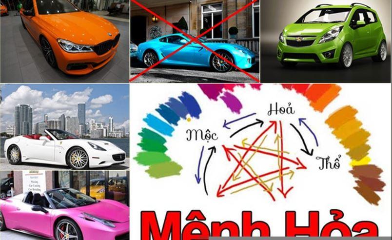 Chọn màu xe cho người mệnh Hỏa