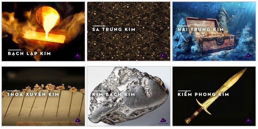 Các nạp âm của mệnh Kim