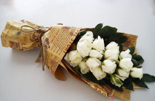 Hình ảnh bó hoa hồng trắng đẹp nhất