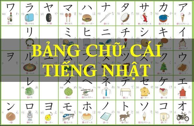 Bảng chữ cái Tiếng Nhật chuẩn & đầy đủ nhất