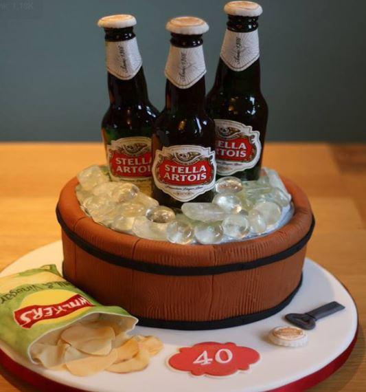 Hình ảnh bánh sinh nhật dân nghiện bia