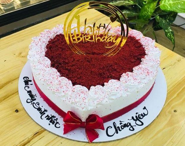 Ảnh bánh sinh nhật hình trái tim đẹp