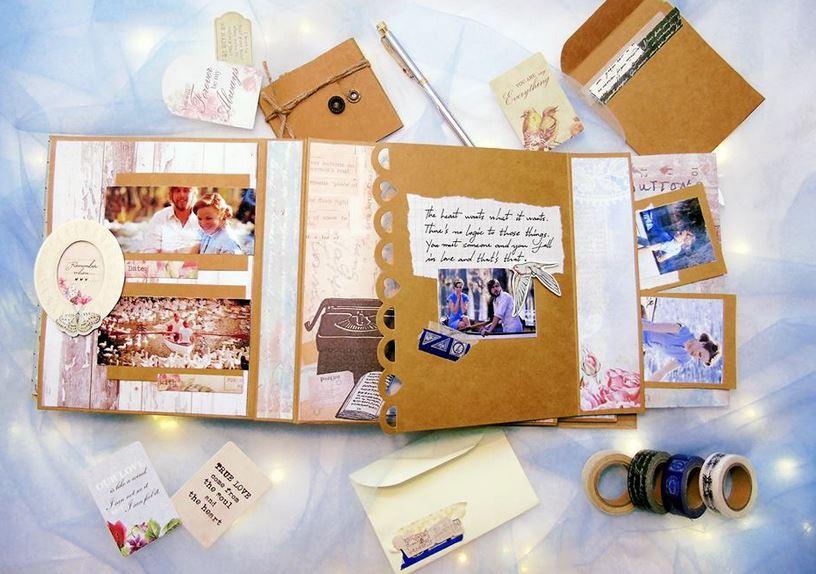 Scrapbook – Món quà valentine handmade độc đáo